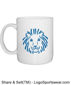 Lion Front ROAR84 Back Custom Printed Mug Design Zoom