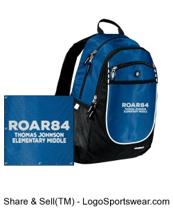 Embroidered ROAR84 Backpack Design Zoom