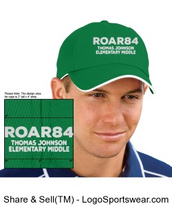 Embroidered ROAR84 Baseball Cap Design Zoom